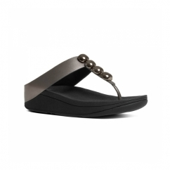 ROLA™ Ladies Toe Post Jewel Sandals Pewter