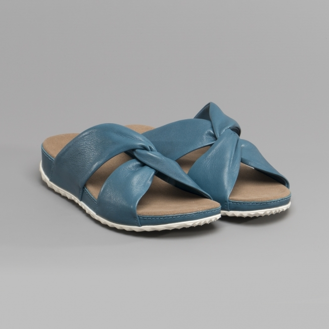 14bebe4b9ec5 Romika FLORENZ 10 Ladies Leather Mule Sandals Azure