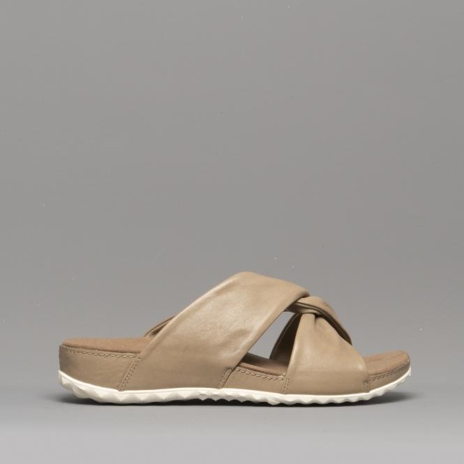 40113564908b Romika FLORENZ 10 Ladies Leather Mule Sandals Beige