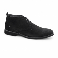 ROSCOE Mens Suede Desert Boots Black