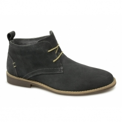 ROSCOE Mens Suede Leather Desert Boots Grey