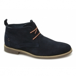 ROSCOE Mens Suede Leather Desert Boots Navy