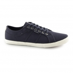 Jack & Jones ROSS Mens Canvas Trainers Navy Blazer