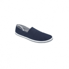 ROSS Unisex Canvas Denim Casual Plimsolls Navy