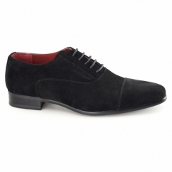 MARIO Mens Faux Suede Oxford Shoes Black