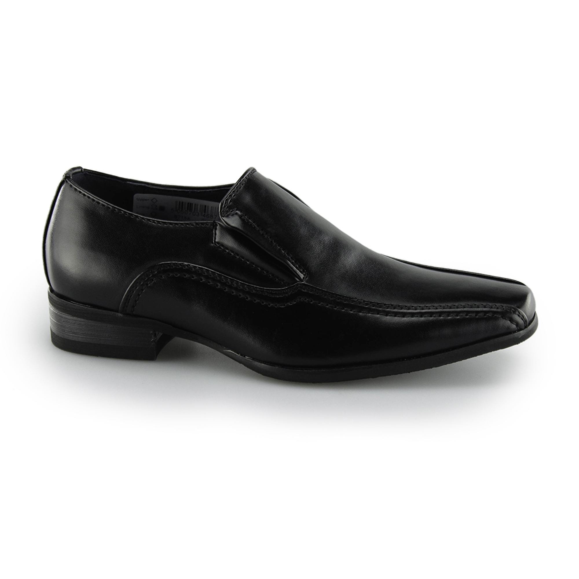 61b192ae43ce Route 21 CLASSIC Boys Leather Slip On Formal Loafers Black