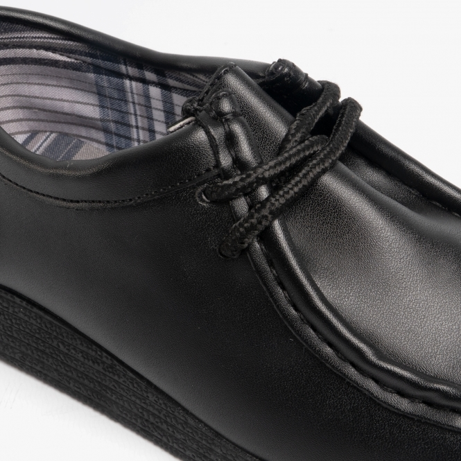 black leather schhol shoes
