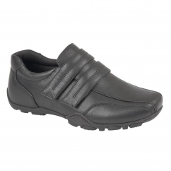 SAMPSON Boys Touch Fasten Smart Shoes Black