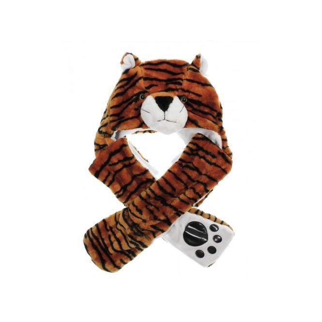 a3a7a304281093 FASHION ANIMAL HAT Womens Ladies Gloves Orange Tiger | Buy At Shuperb