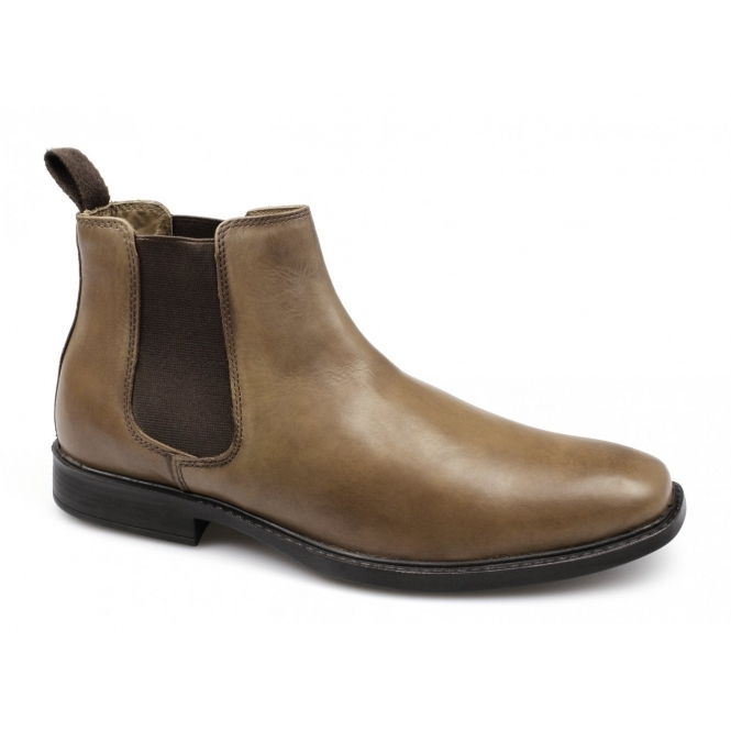 Red Tape RTX DENWICK Mens Leather Chelsea Boots Tan