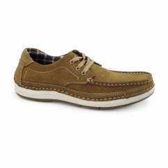 RUBBLE Mens Nubuck Lace Up Shoes Tan