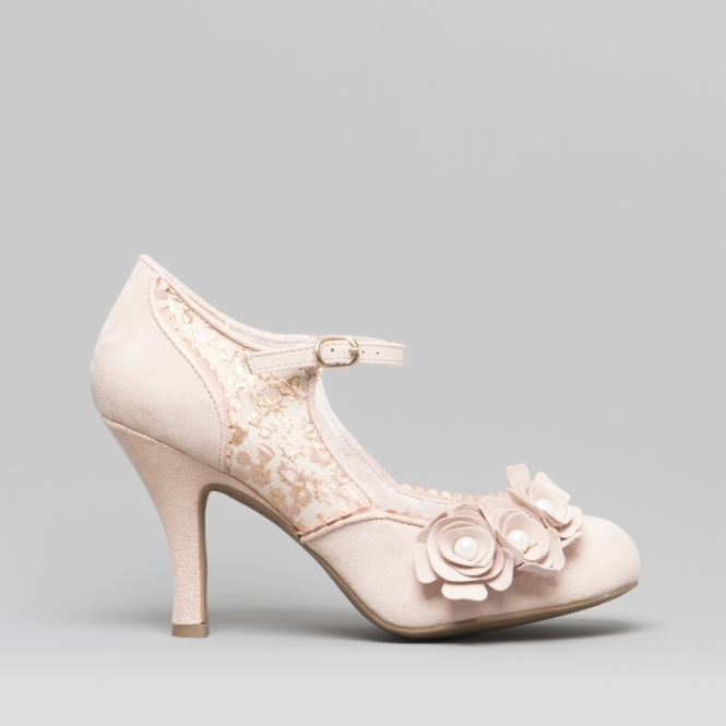 3211c53a8 Ruby Shoo ANTONIA Ladies High Heel Shoes Rose Gold