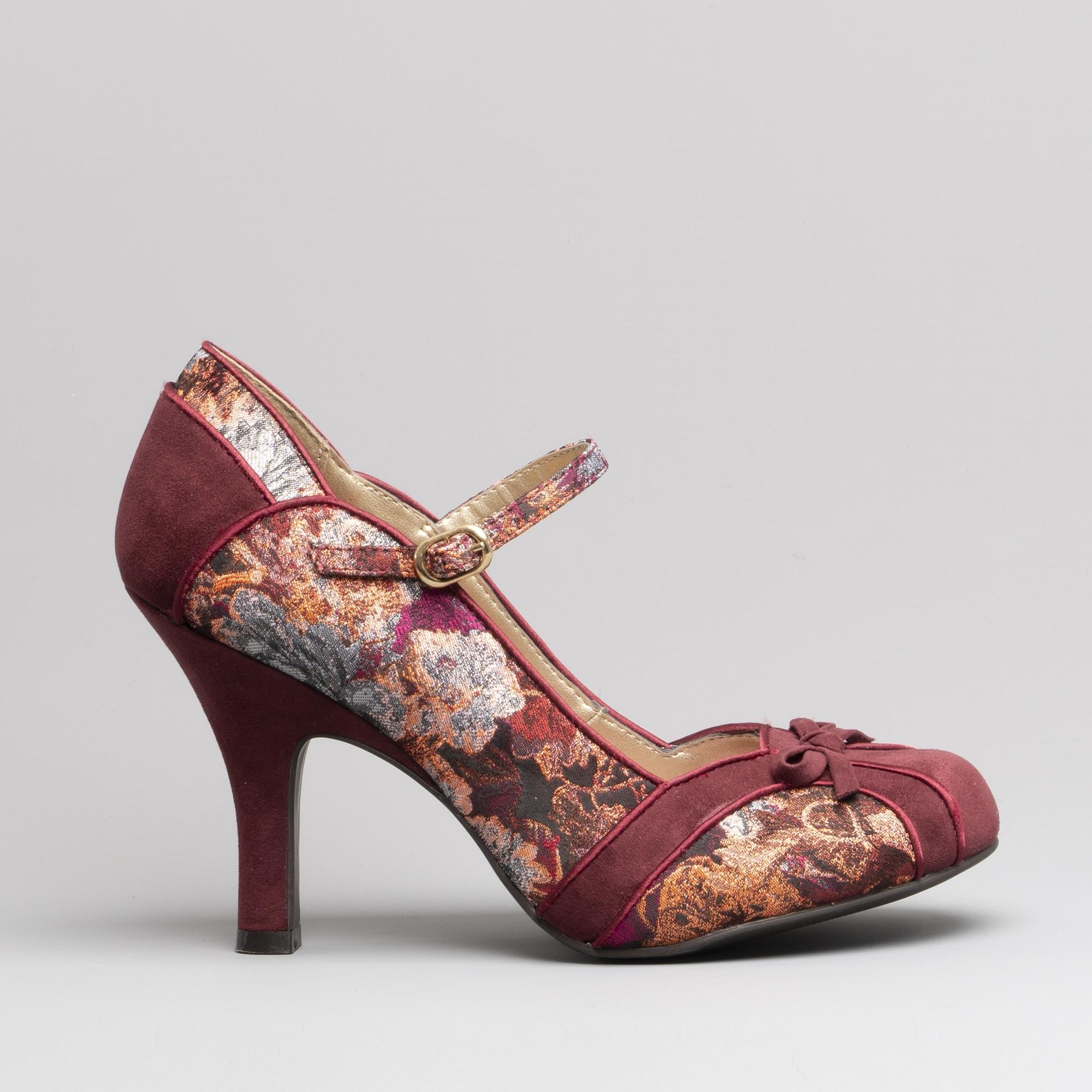 fbd4d889b8 Ruby Shoo CLEO Ladies High Heel Shoes Burgundy | Shuperb