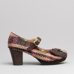 901e46d3716 Ruby Shoo CRYSTAL Ladies Mid Heel Shoes Chocolate