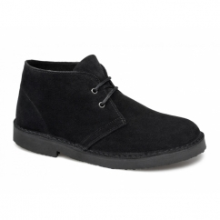 SAHARA Mens Suede Leather Desert Boots Black