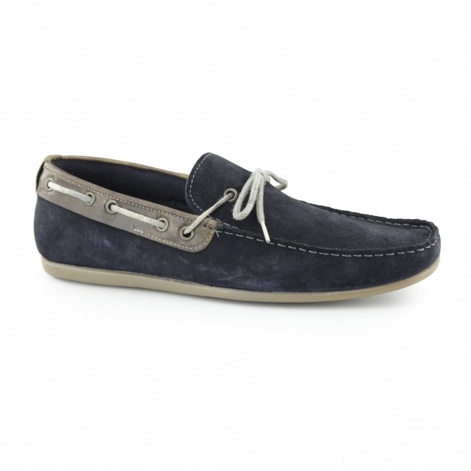 Red Tape SANDY Mens Suede Boat Shoes Navy