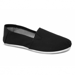 SAWYER Mens Canvas Espadrilles Shoes Black