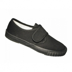 SCHOOLRITE Boys/Girls Velcro Plimsolls Black