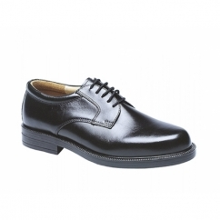 ANAND Mens Leather Lace Up Gibson Shoes Black