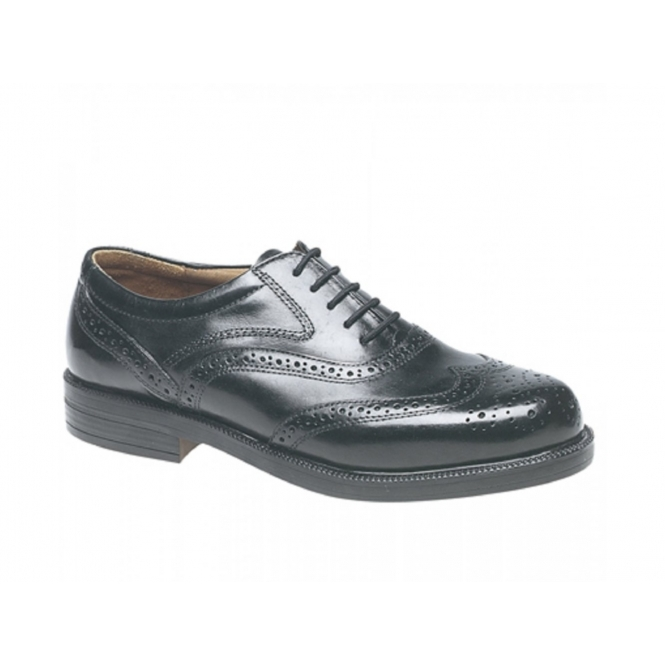 Scimitar STEWART Mens Leather Brogue Shoes Black