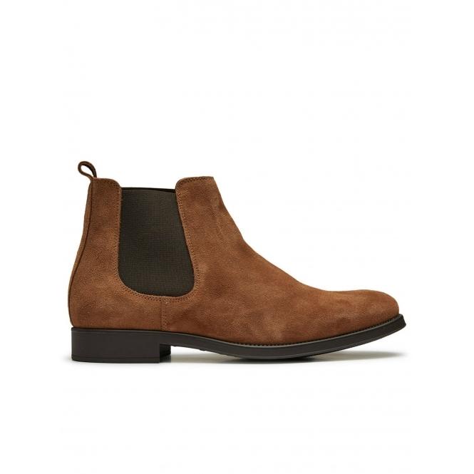 Suede Chelsea Boots - Cognac Selected 9niMpghBz