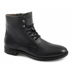 RICH LEATHER NOOS Mens Lace-Up Boots Black