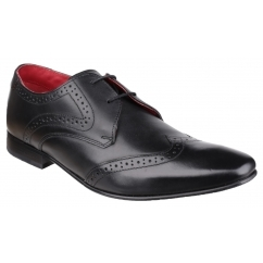 SEW Mens Leather Oxford Brogue Shoes Black