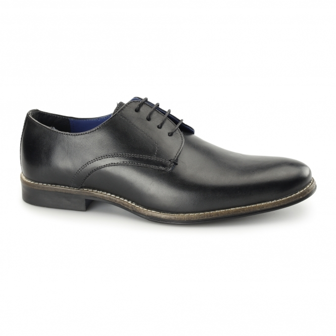 Red Tape SHANNON Mens Leather Derby Shoes Black