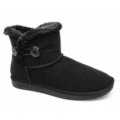 SHELBY OTTAWA Ladies Suede Warm Lined Winter Boots Black
