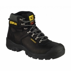 SHELTER Mens Water Resistant Safety Boots Black