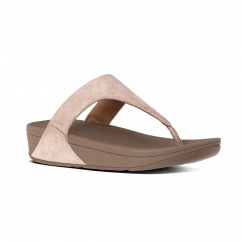 SHIMMY™ Ladies Suede Toe Post Sandals Rose Gold