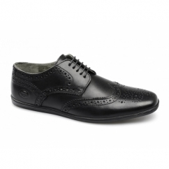 Base London SHORE Mens Leather Brogue Shoes Black