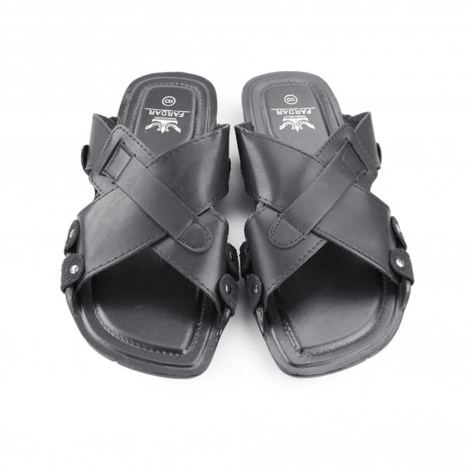 Shoes & Bags Sandals Shumo Hades Mens Slip On Mule Sandals Black