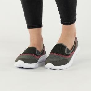 REEF Ladies Womens Elasticated Slip On Casual Comfort Trainers Charcoal Grey