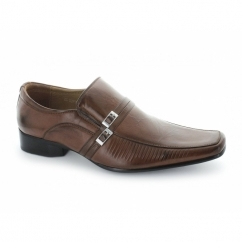 Mens Slip On Casual Shoes Brown