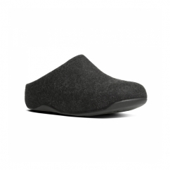 SHUV FELT™ Ladies Felt Mule Clogs Black