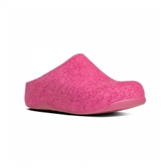 SHUV FELT™ Ladies Felt Mule Clogs Bubblegum