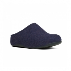 SHUV FELT™ Ladies Felt Mule Clogs Supernavy