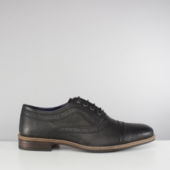 Silver Street London ALBANY Mens Leather Oxford Brogue Shoes Black
