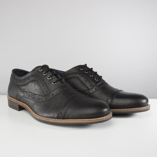 Silver Street London OXFORD Mens Leather Smart Formal Wingtip Brogues Black