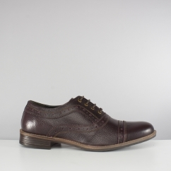 Silver Street London ALBANY Mens Leather Oxford Brogue Shoes Oxblood
