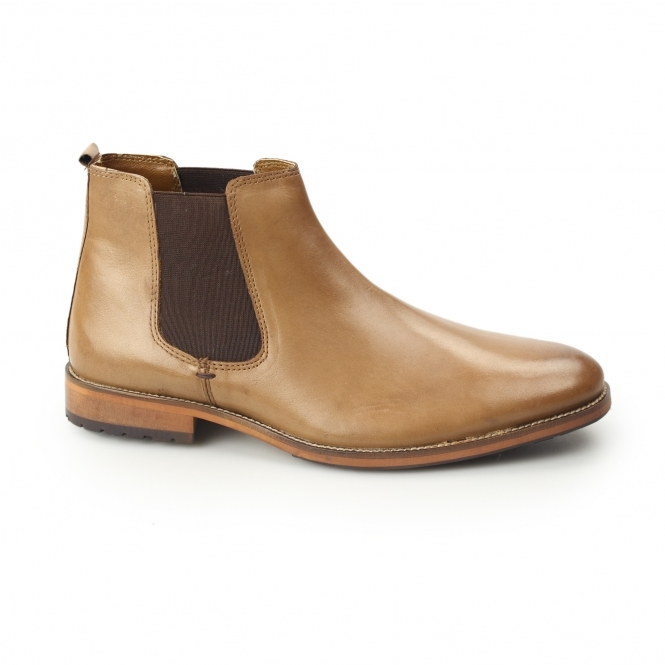 Silver Street London ARGYLL Mens Leather Chelsea Boots Tan