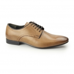 Silver Street BAKER Mens Plain Pointed Shoes Tan