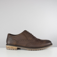 Silver Street London CENTRAL Mens Leather Brogue Shoes Brown