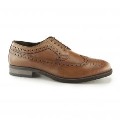 Silver Street DOWNING Mens Leather Longwing Derby Brogues Tan