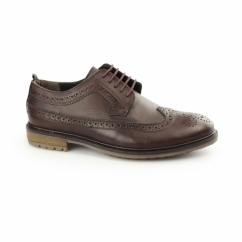 FENCHURCH Mens Leather Brogues Burgundy