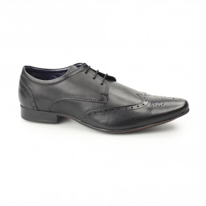 Smart Brogues In Black Leather - Black Silver Street London V5tgfM