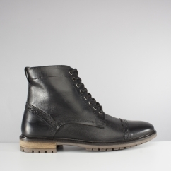 Silver Street London MONMOUTH Mens Leather Derby Boots Black