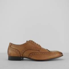 Silver Street London PORTMAN Mens Leather Derby Brogues Tan