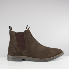 Silver Street London SLOANE Mens Suede Chelsea Boots Dark Brown